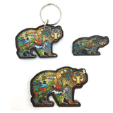 Grizzly Bear Magnets, Keychains and Pins