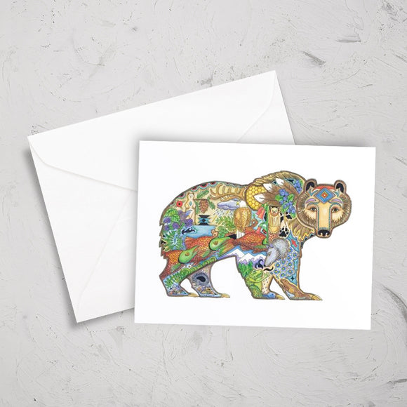 Grizzly Bear Note Card