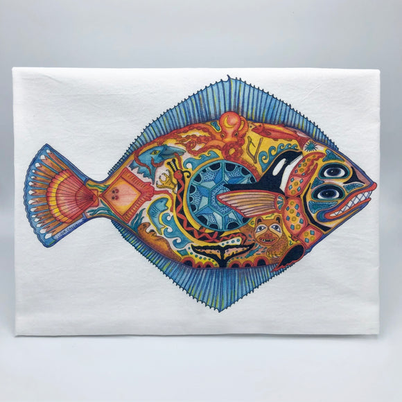 Halibut Flour Sack Towel