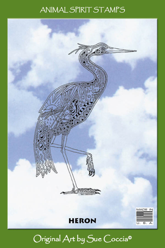 Heron Rubber Stamp