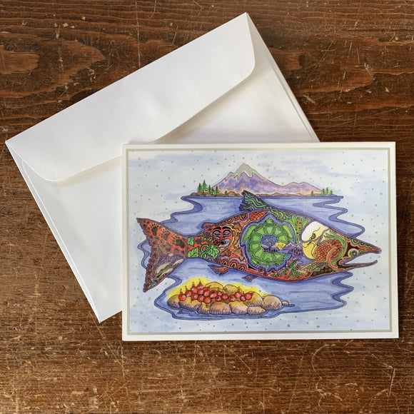 Salmon Holiday Card
