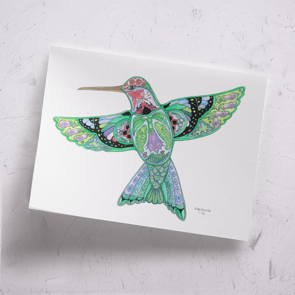 Hummingbird Signed Print