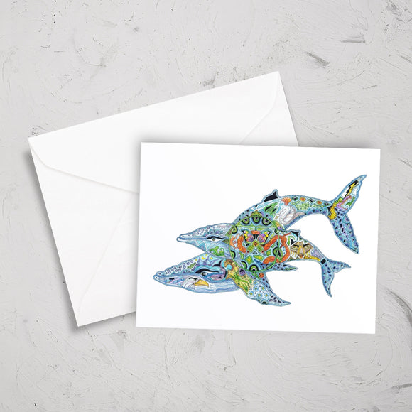 Humpback Whales Note Card