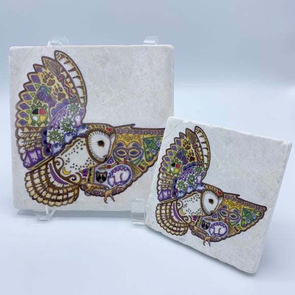 Barn Owl Coasters and Trivets