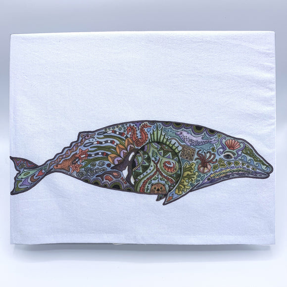 Gray Whale Flour Sack Towel