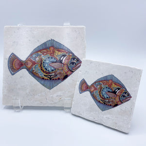 Halibut Coasters and Trivets
