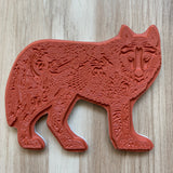 Wolf Standing Rubber Stamp