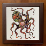 Octopus Wood Framed Trivet