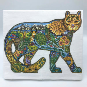 Mountain Lion Flour Sack Towel