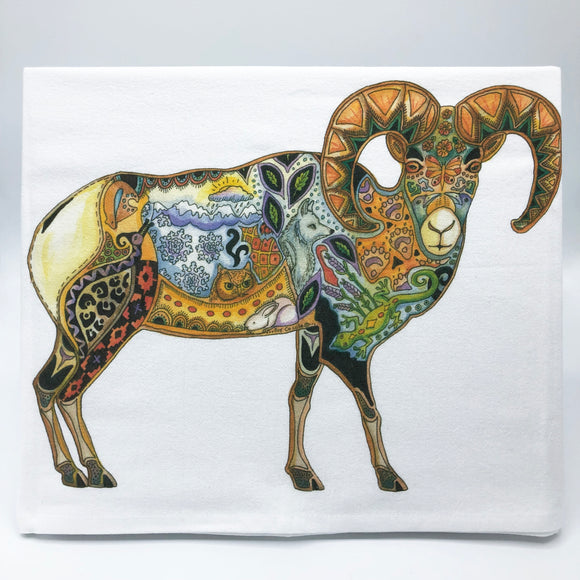 Big Horn Sheep Flour Sack Towel