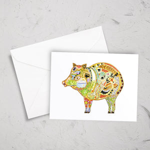 Javelina Note Card