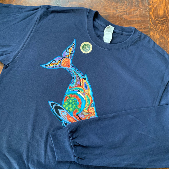 Blue Whale Long Sleeve Shirt