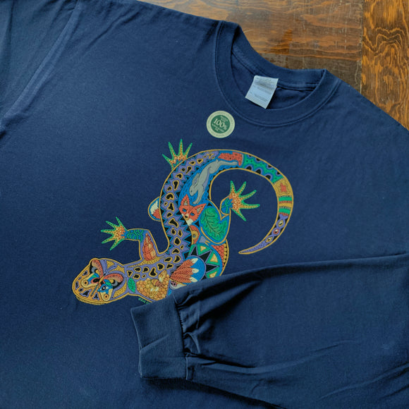Lizard Blue Long Sleeve Shirt