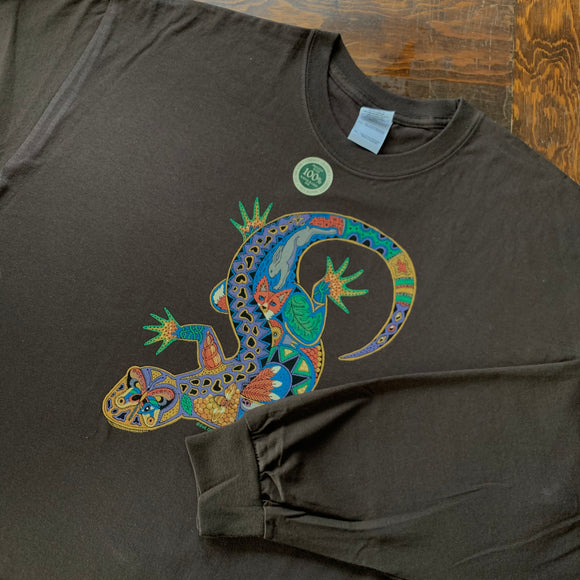 Lizard Brown Long Sleeve Shirt
