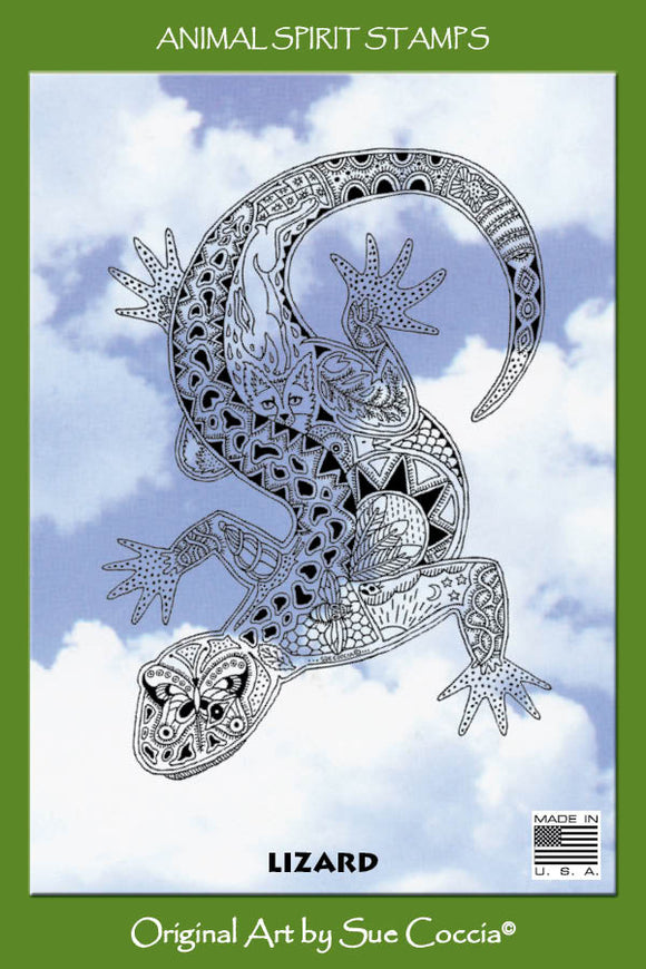 Lizard Rubber Stamp