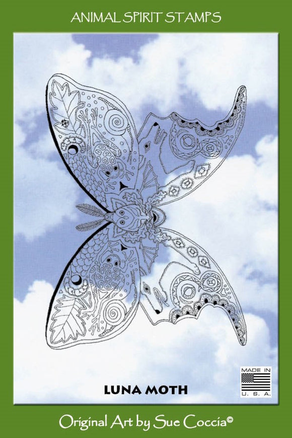 Luna Moth Rubber Stamp
