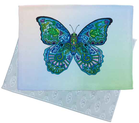 Blue Morpho Butterfly Microfiber Cleaning Cloth