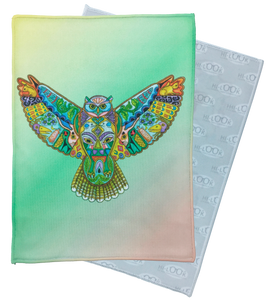 Great Horned Owl Microfiber Cleaning Cloth