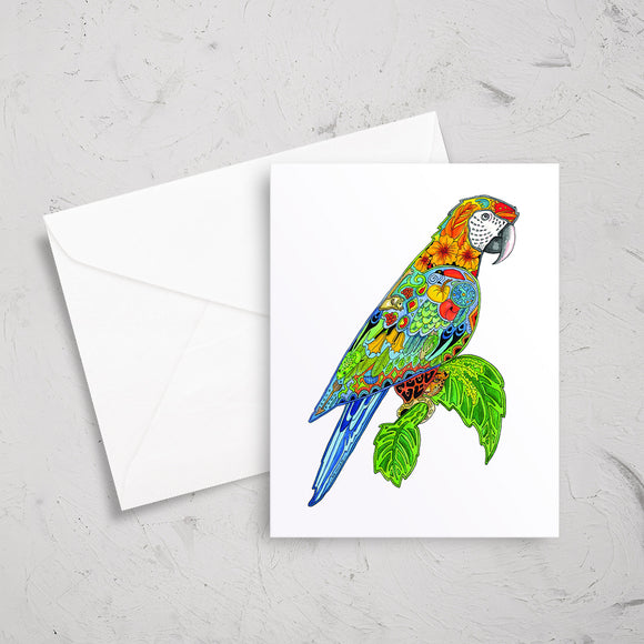 Macaw Note Card