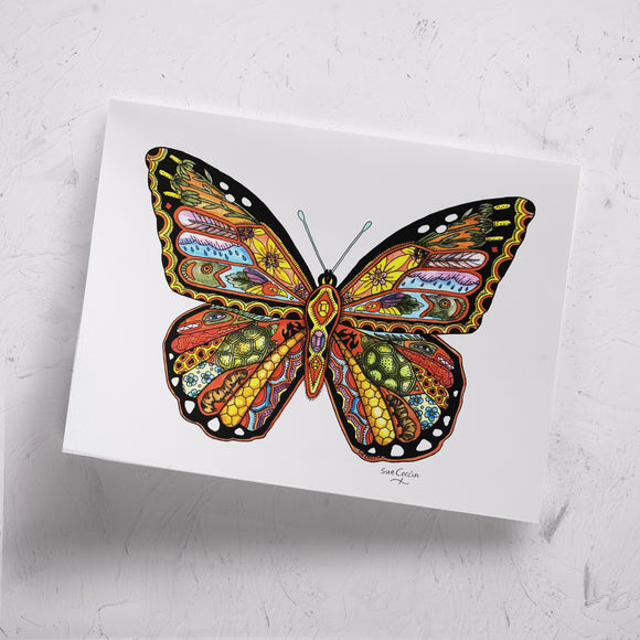 Monarch Butterfly Signed Print