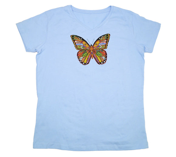 Monarch Butterfly Premium V-neck fitted ladies shirt