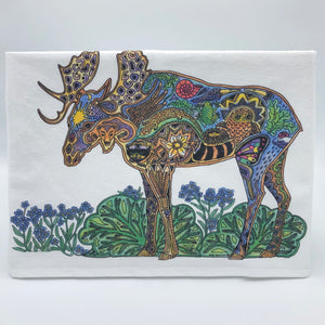 Moose Flour Sack Towel