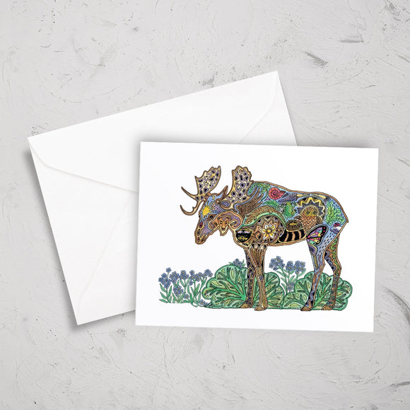 Moose Note Card