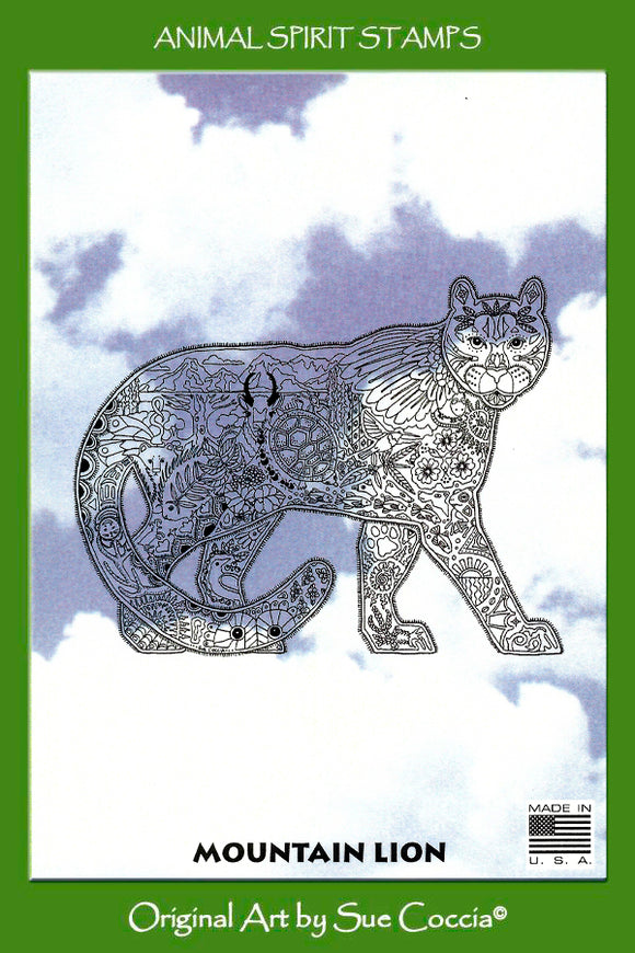 Mountain Lion Rubber Stamp