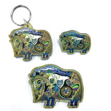 Musk Ox Magnets, Keychains and Pins