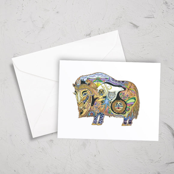 Musk Ox Note Card