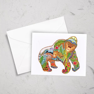 Gorilla Note Card