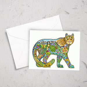 Mountain Lion Note Card