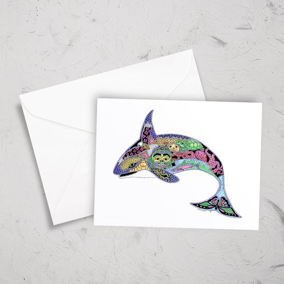 Orca Note Card