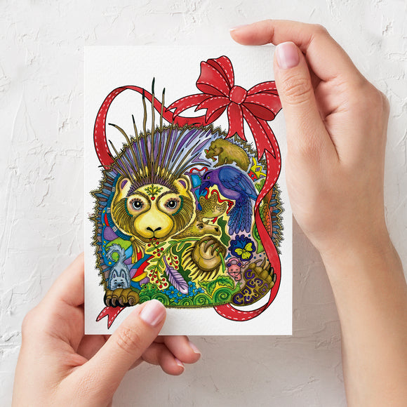 Porcupine Holiday Card