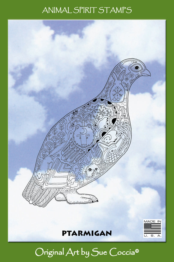 Ptarmigan Rubber Stamp