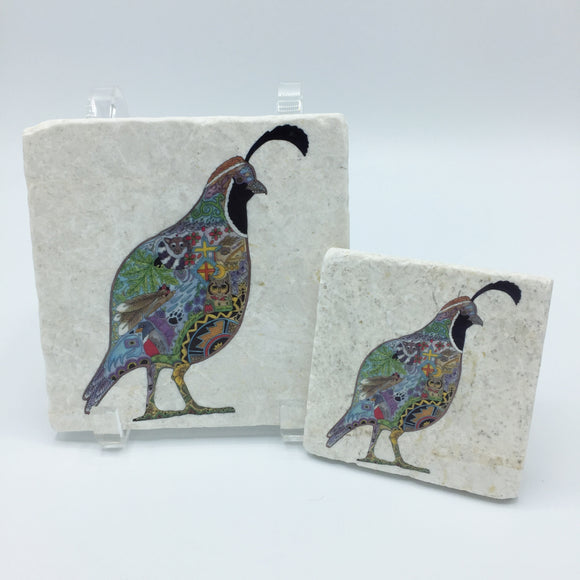 Quail Coasters and Trivets