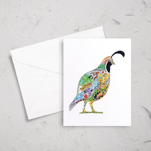 Quail Note Card