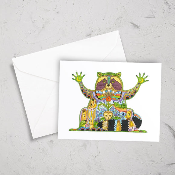 Raccoon Note Card