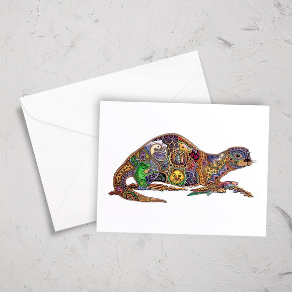 River Otter Note Card