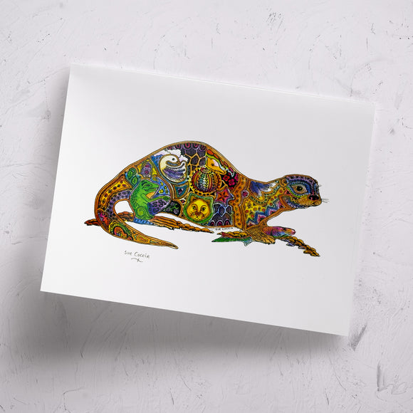 River Otter Signed Print