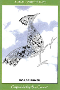 Roadrunner Rubber Stamp