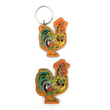 Rooster Magnets and Keychains
