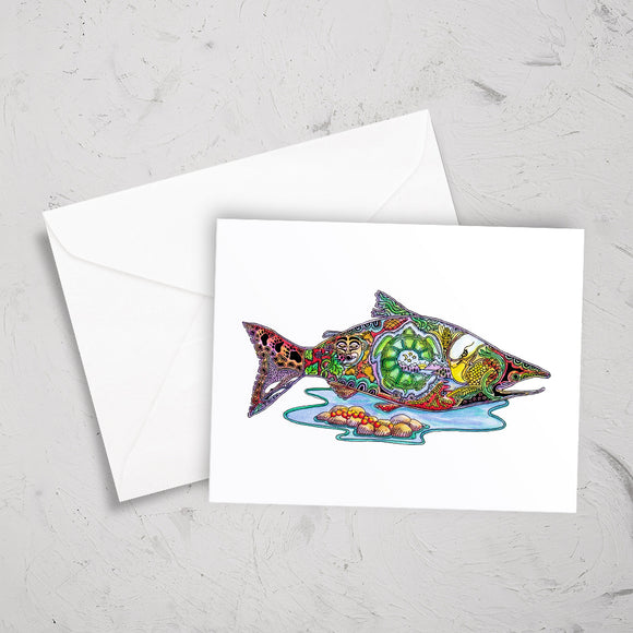Salmon Note Card