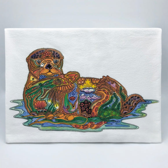Sea Otter Flour Sack Towel