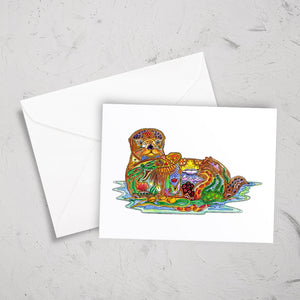 Sea Otter Note Card