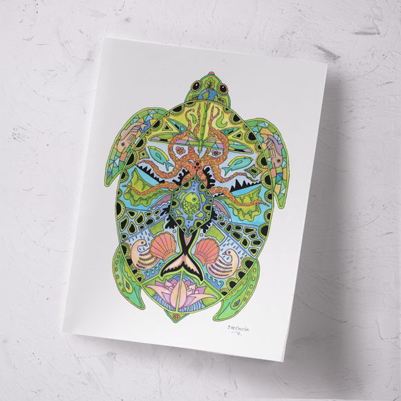 Sea Turtle Signed Print