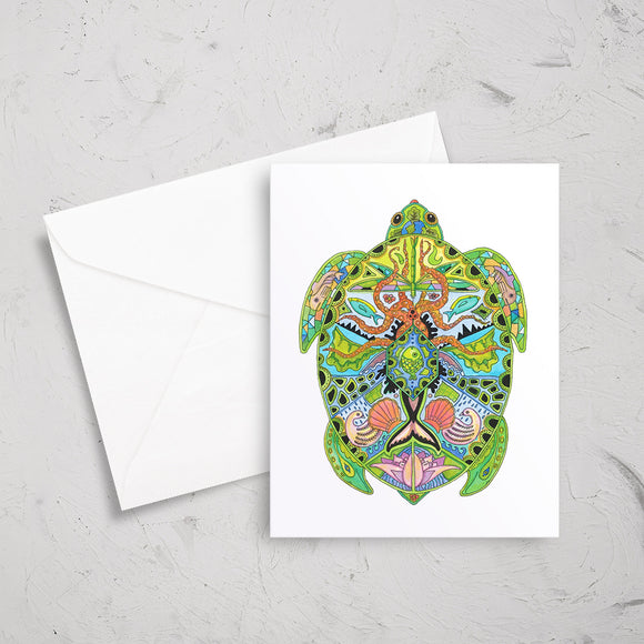 Sea Turtle Note Card