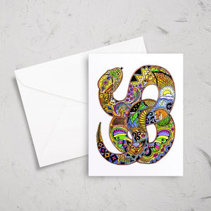 Snake Note Card