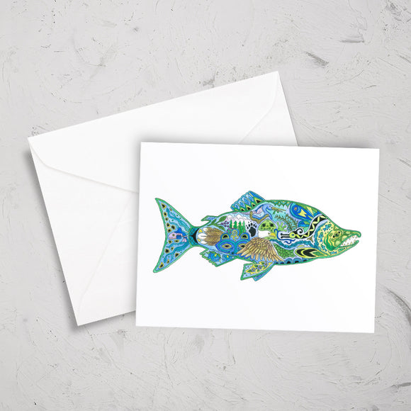 Sockeye Salmon Note Card