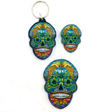 Sugar Skull Magnets, Keychains and Pins